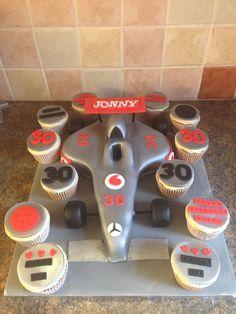 Formula one racing car cake
