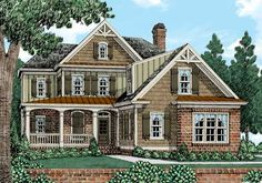 TYPE BB2 #2 NSQ (47 x 66) 2335 SF = 1260 Main + 1075 Upper_Buffington - Home Plans and House Plans by Frank Betz Associates