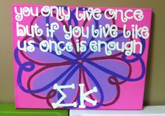 sigma kappa crafts | Sigma Kappa! | Sorority Crafts