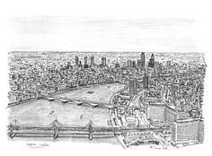 Stephen Wiltshire - London from The London Eye