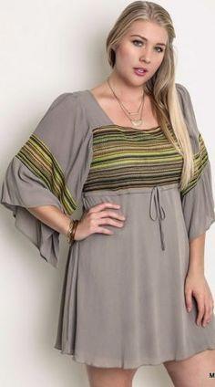 Tribal western plus size dresses