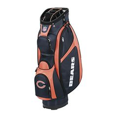 Wilson NFL Chicago Bears Cart Golf Bag NavyOrange One Size ** Learn more by visiting the image link.