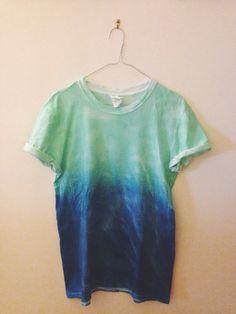 Faded Tie-dye T-shirt by OxfordCommaShirts on Etsy