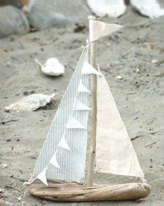 treibholz basteln sand meer steine deko stoff boot diy (Diy Geschenke Garten)