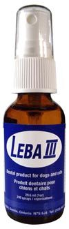 Leba Spray to prevent and reduce plaque and tartar on your dogs' teeth.  This stuff really works!