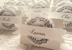 Reserved for laurendake - Custom Bridal Shower Place Cards with Sheet Music Cocardes