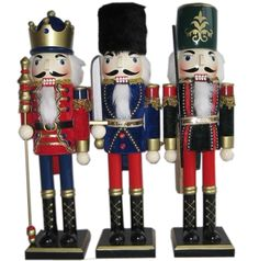 nutcrackers | China Wooden Christmas Gift, Wooden Nutcrackers - large image for ... Father Christmas, Christmas Gifts, Xmas, Christmas Ideas, Nutcracker Figures, Love Holidays, Nutcracker Christmas, Toy Soldiers, Christmas Traditions
