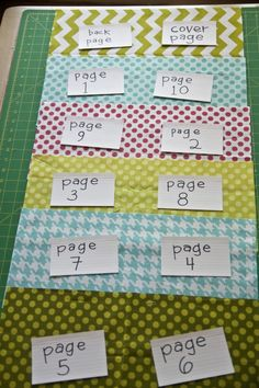 how to lay out and sew a quiet book