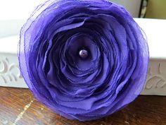 Wedding Hair Flower Purple Shabby Chic Hair by AnnaDelphiaBridal