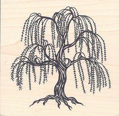 primative Weeping Willow Tree Drawings | Weeping Willow Tree 4 quot x 3 75 quot…