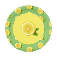 """#party - #7"""" Paper Plates-Lemon Paper Plate"""