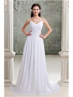 Sydney Shining Empire Spaghetti Straps Sweetheart Sandra s Wedding Dress(1132)