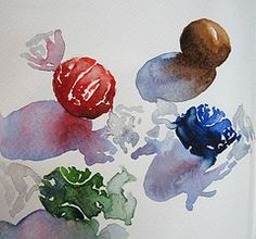 Chocolate truffles (Cristina Dalla Valentina) Tags: club watercolor sketch candy little chocolate cristina sweets sketches the dallavalentina