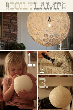 DIY-lampion-suspension-dentelle-avec-ballons-décorations