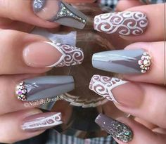 Gorgeous With Fall Nail Art Designs. Glam Nails, Fancy Nails, Beauty Nails, New Year's Nails, Hot Nails, Hair And Nails, Nails 2016, Gorgeous Nails, Pretty Nails
