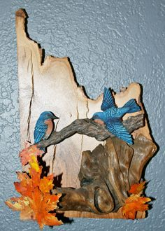 Woodcarving wall hanging picture of two by WoodcarversPlace