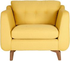 The Juliet Standard Chair adds contemporary detail to a mid-century retro look for a collection of sofas that combines chic and class with brilliant colour. Sofa Chair, Tub Chair, Armchair, Take A Seat, Love Seat, Large Sofa, Fabric Sofa, Color Pop, Colour