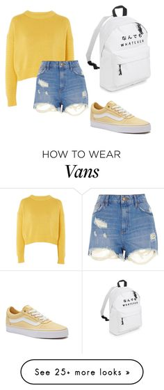 """sighskool adventures _part ten_"" by mercy-148 on Polyvore featuring Vans, Topshop and River Island"