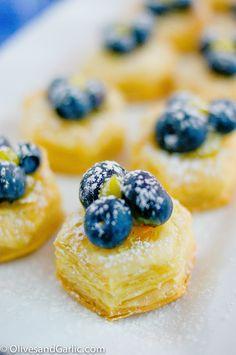 Blueberry & Lemon Curd Tartlets | Olives & Garlic