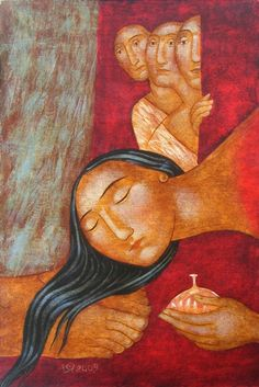 The Unction of Christ by Julia Stankova