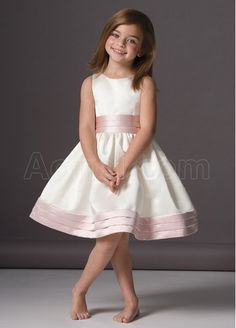 possible flower girl dress- peach trim