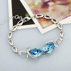 Neoglory MADE WITH SWAROVSKI ELEMENTS Crystal Rhinestone Statement Necklace for Women Fashion Jewelry Wedding Jewelery ...