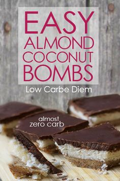 Almond Joy flavor with almost no carbs - the perfect keto dessert.