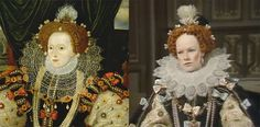 Armada portrait & reproduction worn by Glenda Jackson in the BBC's 'Elizabeth R'