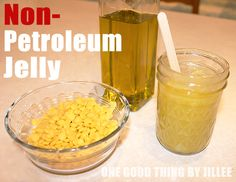 natural petroleum jelly via One Good Thing by Jillee. (To go with the 'summer socks')