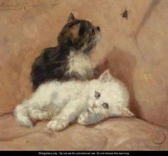 Two Kittens - Henriette Ronner-Knip