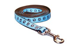Amazon.com: Sassy Dog Wear 6-Feet Blue/Brown Puppy Paws Dog Leash, Medium: Pet Supplies