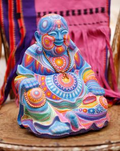 Hand Painted Laughing Buddha Statue by SaltyHippieArt on Etsy https://www.etsy.com/listing/238734179/hand-painted-laughing-buddha-statue