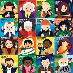 Available in: Item.Mudpuppy's Little Scientist 500 Piece Puzzle is comprised of colorfully illustrated portraits of real people who have made a historical Important People In History, Classroom Charts, Activities For Adults, Marie Curie, Stationery Shop, Gift Finder, All Games, Keith Haring, 500 Piece Jigsaw Puzzles