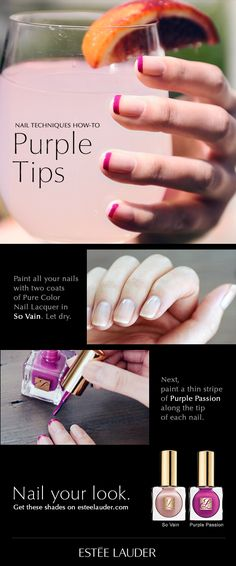 #howto #french #manicure #esteelauder #tutorial - for more #nailart #inspiration, MyBeautyCompare Pinterest #hand #polish #varnish #lacquer #idea #chic #classic #glam #summer #spring