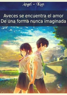 Anime Cat, Otaku Anime, Kawaii Anime, Anime Amor, Your Name Anime, Amor Quotes, Spanish Phrases, Kimi No Na Wa, Kokoro