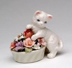 Cosmos 96475 Fine Porcelain Kitten with Flower Pot Figurine, 3-Inch by Cosmos, http://www.amazon.com/dp/B007TAI33A/ref=cm_sw_r_pi_dp_sPHUrb0AFF1Y0