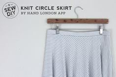 DIY Striped Knit Circle Skirt — Sew DIY