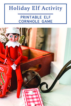 This simple Elf on the Shelf Activity from Everyday Party Magazine is perfect for kids and kids at heart! #ElfOnTheShelf #ElfOnAShelf