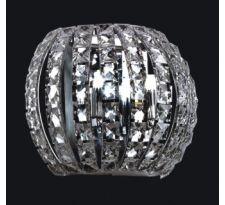 Kinkiet LAMPA ścienna MONDE W0109-02A-F4AC Italux stylowa OPRAWA halogenowa glamour przezroczysta