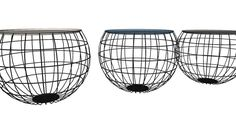 Large preview of 3D Model of 81140 Coffee Table La Costa Wire (3/Set) (Couchtisch La Costa Wire (3/Set)