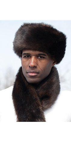 Men s Faux Fur Sable Hat Russian Hat 3bae96e29642