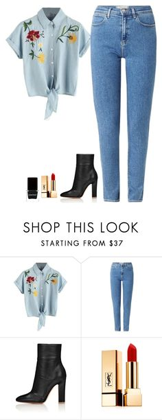 """""""True love"""" by arianabut1993 ❤ liked on Polyvore featuring Wrangler, Yves Saint Laurent and Context"""