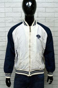 Giubbino LONSDALE Uomo Taglia XL Giubbotto Bomber Giacca Coat Jacket Blu  Bianco b5fbc55bdc6