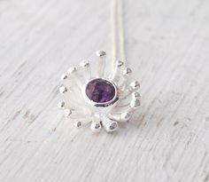 Amethyst Necklace Violet  Purple Gemstone by SunSanJewelry on Etsy, $120.00