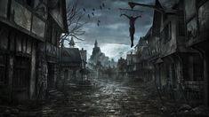 Places PT 2 Dark art paintings Dark fantasy art Creepy backgrounds