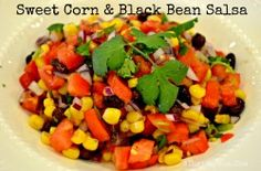 7 days of meals all in one spot! sweet corn and black bean salsa recipe