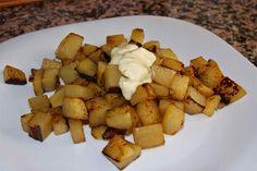 patatas salteadas con limón