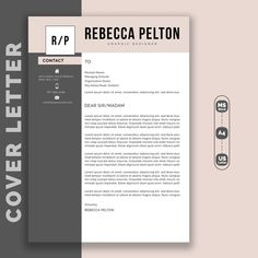 Professional Resume Template Modern CV Template for Word image 1 Modern Resume Template, Resume Templates, One Page Resume, Resume Layout, Professional Cover Letter Template, Teacher Resume Template, Cv Cover Letter, Graphic Design Company