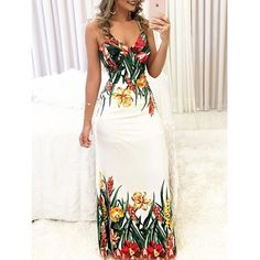 Summer Women Boho Floral Printed Dresses Fashion Ladies Sleeveless Party Evening Long Maxi Dress Suspenders VNeck Dresses size S color As Photo Show Short Beach Dresses, Summer Dresses, Maxi Dresses, Floral Dresses, Long Dresses, Sleeveless Dresses, Floral Print Maxi Dress, Dress Long, Party Dresses