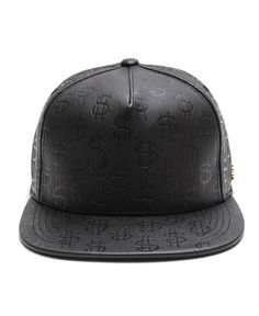 0c40ad00237 Stussy - S Money Leather Snapback Cap (Black)